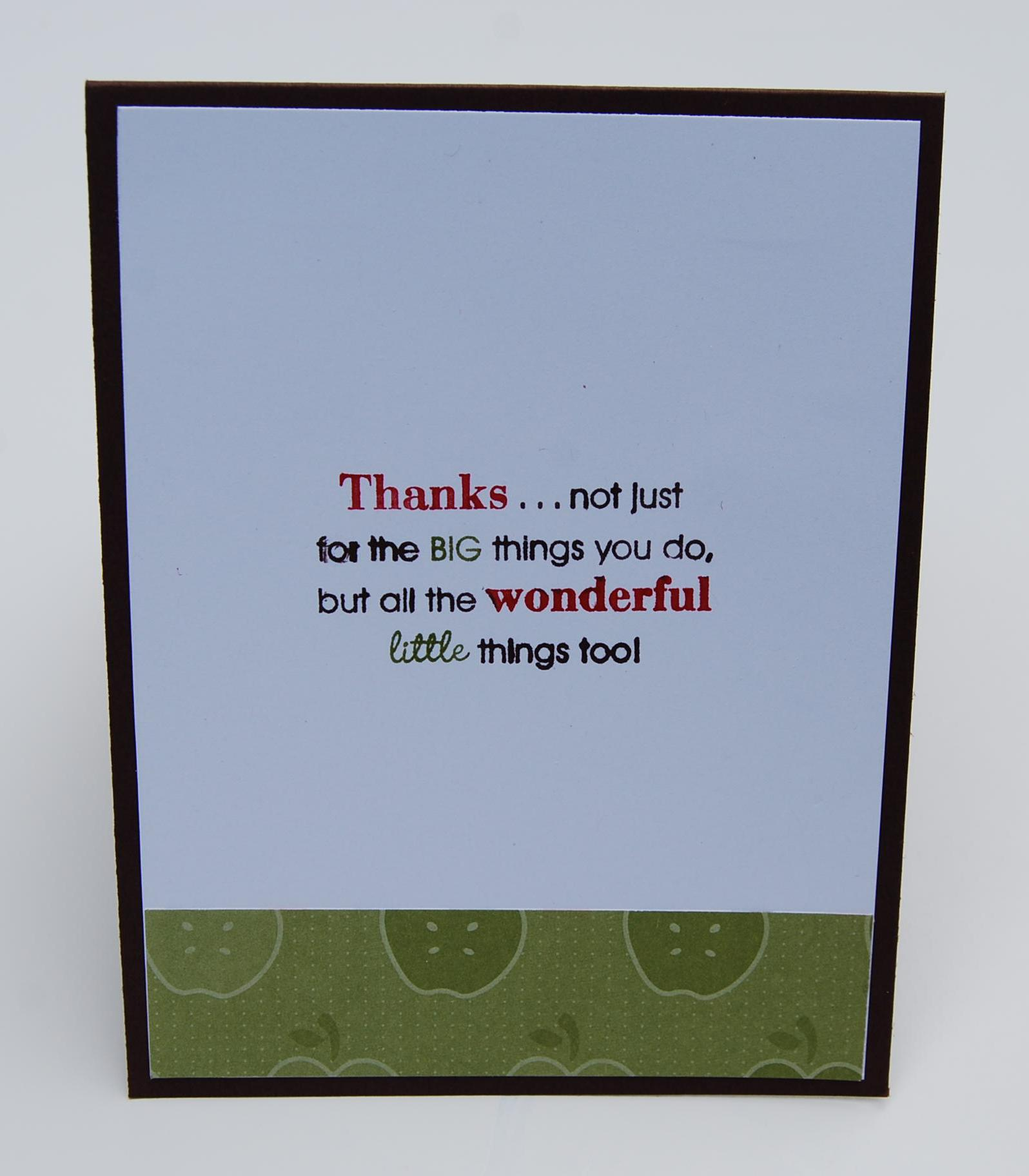 Inside Thank you